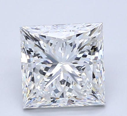 Blue Nile 2.05克拉公主方形钻石(切割VG,成色F,净度VVS2)