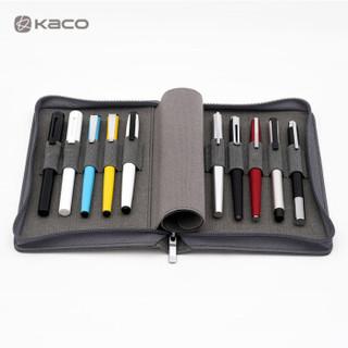 KACO爱乐钢笔收纳包 灰色 10格 *3件