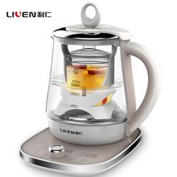 利仁(Liven)养生壶 1.8L多功能煮茶壶 玻璃电水壶LR-D1806