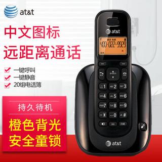 at&t EL31109B 数字无绳电话机 (黑色)