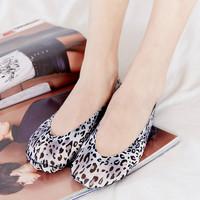 MengNa 3双装 梦娜春夏趣味豹纹硅胶防滑隐形袜