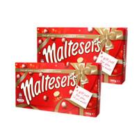 maltesers 麦丽素 麦芽脆心牛奶夹心糖果巧克力豆 360g 2盒装