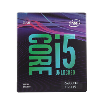 intel 英特尔 酷睿系列 i5-9600KF CPU处理器 6核6线程 3.7GHz