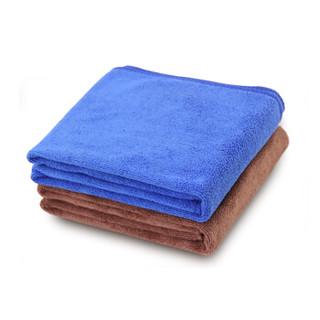 天气不错 高品质超细纤维洗车毛巾 30*70cm两条装 蓝色+咖啡色 *13件
