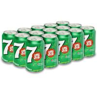 PEPSI 百事 七喜 7UP 汽水碳酸饮料 (柠檬味、330ml*15罐 )