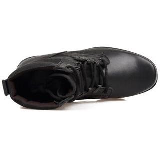 强人 男士 户外耐磨 多种材质拼接 军靴 ZZ07 黑色 42