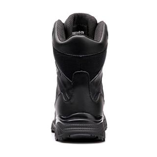 强人 JD511-65 轻便透气系带款男式高分子户外耐磨防踢战术军迷靴子 黑色 42码