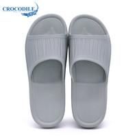 Crocodile 鳄鱼恤 CRO1684 男款 家居软底浴室洗澡防滑透气 套脚 浴室拖鞋 芯片灰、44