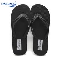 Crocodile 鳄鱼恤 CRO1661 男款 户外清凉简约 套脚 人字拖 黑色、42