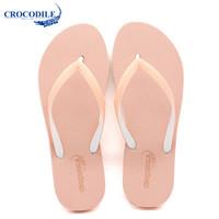 Crocodile 鳄鱼恤 青年  人字拖 CRO1601 (39、红色)