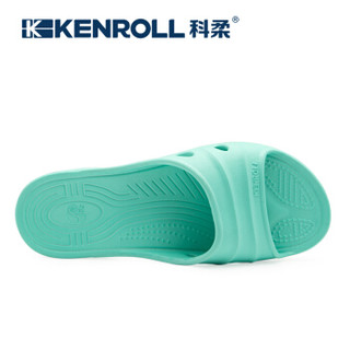 KENROLL 科柔 女士孕妇老人防滑一字拖 KW176 尼蓝色 35/36