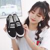 飞耀(FEIYAO)帆布鞋女学生平底一脚蹬懒人布鞋情侣休闲小白鞋女L-237黑色36
