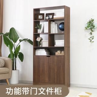 家乐铭品 书柜书架多功能带门办公文件柜储物柜收纳柜置物架 加宽型A896