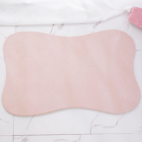 京造 天然硅藻土浴室吸水地垫 淋浴脚垫 卫生间防滑垫 大号600mm*390mm 浅咖啡色 云朵形状 *3件