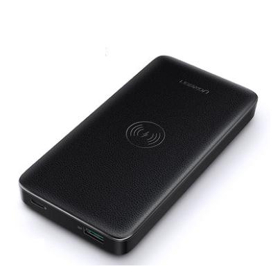 绿联无线充电宝pd18w闪充安卓快充iPhone11 Pro Max/xs/SE/x专用10000毫安移动电源适用于苹果华为mate30手机