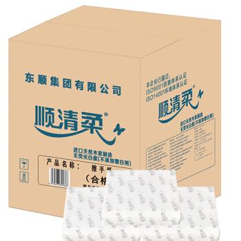 顺清柔 商务系列 抽纸1层200张*20包 (230*220mm)