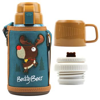 BeddyBear 杯具熊 儿童保温杯 不锈钢保温杯 棕色 600ml