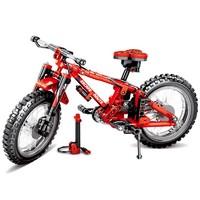 汇奇宝 科技机械积木 双变山地自行车