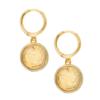 Shashi Coin 银镀18K金 压纹人像金币耳环
