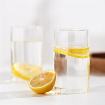J.ZAO 京东京造 京东京造 玻璃杯 高硼硅耐热水杯果汁杯茶杯  2只装
