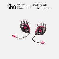 She's 荷鲁斯之眼 流苏耳钉 (SPE9211502、红色、大英博物馆授权)