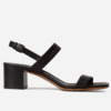 Everlane 女士简约一字扣带凉鞋高跟鞋 (7、黑色)
