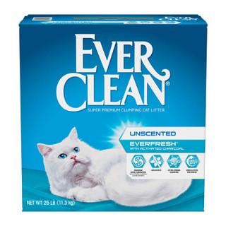 蓝钻宠物猫砂 无尘结团膨润土进口猫砂猫咪猫厕所 蓝钻白标无香型25磅