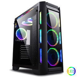 金河田(Golden field)峥嵘Z30幻彩LED发光台式电脑机箱 钢化玻璃侧透游戏水冷主机箱(ATX/MATX/240冷排)