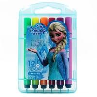Disney 迪士尼 DM20655F 冰雪奇缘三角杆可洗水彩笔 12色