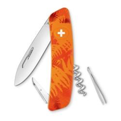 SWIZA 瑞莎 KNI.0010.2060 丛林飞鹰 树叶橙 瑞士军刀(8种功能) *2件