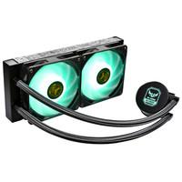 ID-COOLING AURAFLOW X 240 TGA TUF GAMING电竞一体式水冷CPU散热器 240排12V同步RGB灯效