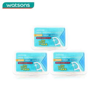 Watsons 屈臣氏 圆线护理 牙线棒 (50支*3盒)