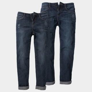NINETYGO 90分 男女款轻暖直筒牛仔裤