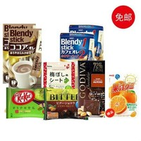 日本零食礼包(AGF咖啡4盒+歌帝梵、雀巢3盒+话梅片)