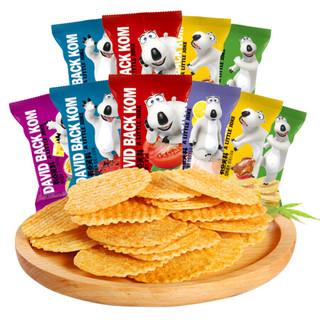 贝肯熊有点笑料烘焙薯片休闲零食食品大礼包一箱 10包组合 *2件