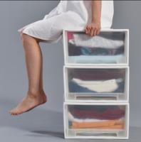 第二件半价百露加大号衣柜橱收纳箱柜神器塑料抽屉式衣服整理透明