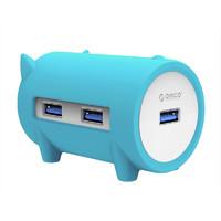 Orico/奥睿科USB3.0分线器卡通猪HUB电脑笔记本集线器TF/SD读卡器