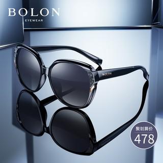 BOLON暴龙蝶形偏光太阳镜女款个性潮流墨镜时尚圆脸眼镜BL2511