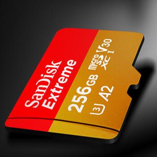 SanDisk 闪迪 Extreme TF卡至尊极速 SDSQXA1-256G-ZN6MA 存储卡 256GB