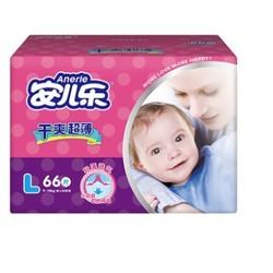 Anerle 安儿乐 干爽超 薄婴儿纸尿裤 L66片 *3件