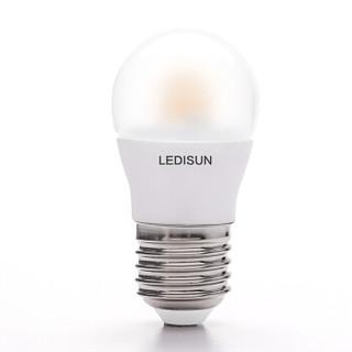 LEDISUN纳晶小黄帽球泡灯E275W护眼灯泡学生学习led台灯灯泡螺口 暖白4000K *2件