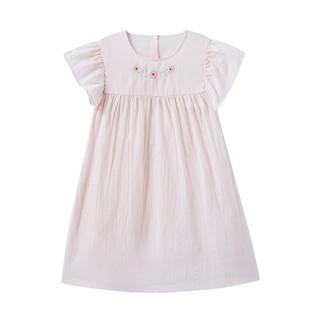 全棉时代 女童梭织短袖家居连衣裙