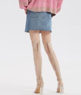 ochirly 欧时力 1GZ2073420 女士牛仔短裙