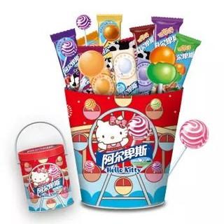 阿尔卑斯xHello Kitty 棒棒糖限量版混合铁桶(送印章) 49支礼盒 464g *2件