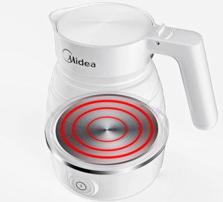 Midea 美的 MK-SH06Simple101 电水壶 (0.6L、白色)