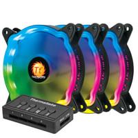 Thermaltake 曜越 玲珑风扇 12 LED RGB (机箱风扇、专用6Pin、1300 R.P.M 、120 x 120 x 25 mm)
