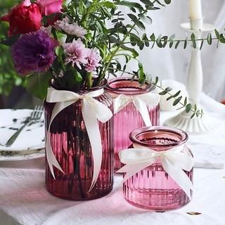 宏达 彩色玻璃花瓶 小号
