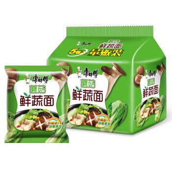 Tingyi 康师傅 蘑菇鲜蔬面 (500g、蘑菇鲜蔬、袋装、5连包)
