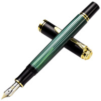 Pelikan 百利金 M400钢笔 (黑绿色、环保树脂、0.5mm(F尖))