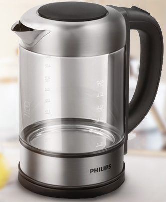 PHILIPS 飞利浦 HD9342/08 电热水壶 (1.5L、灰色)